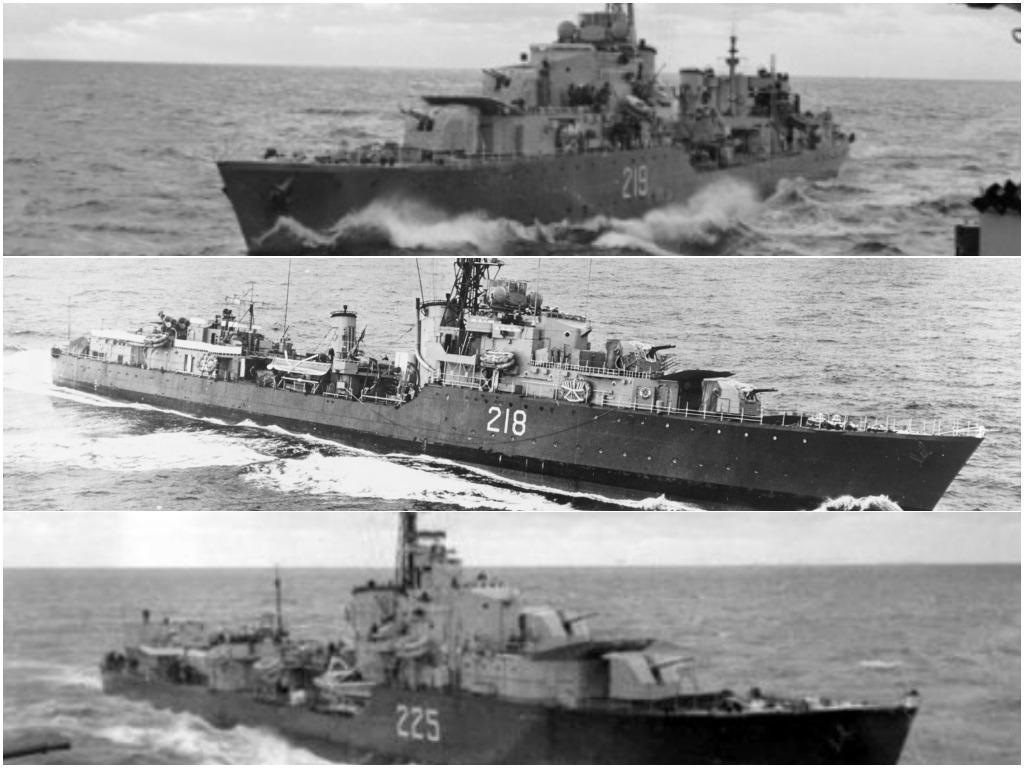 한국전쟁, 캐나다군은 중공군을 주적으로 대항해 싸웠다 collage ships