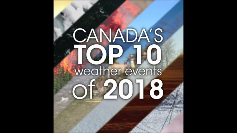 """2018년 캐나다 기상 뉴스 1위 """"기록적 산불과 연무"""""""