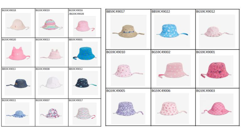 목 조임 끈있는 유아용 모자 전량리콜
