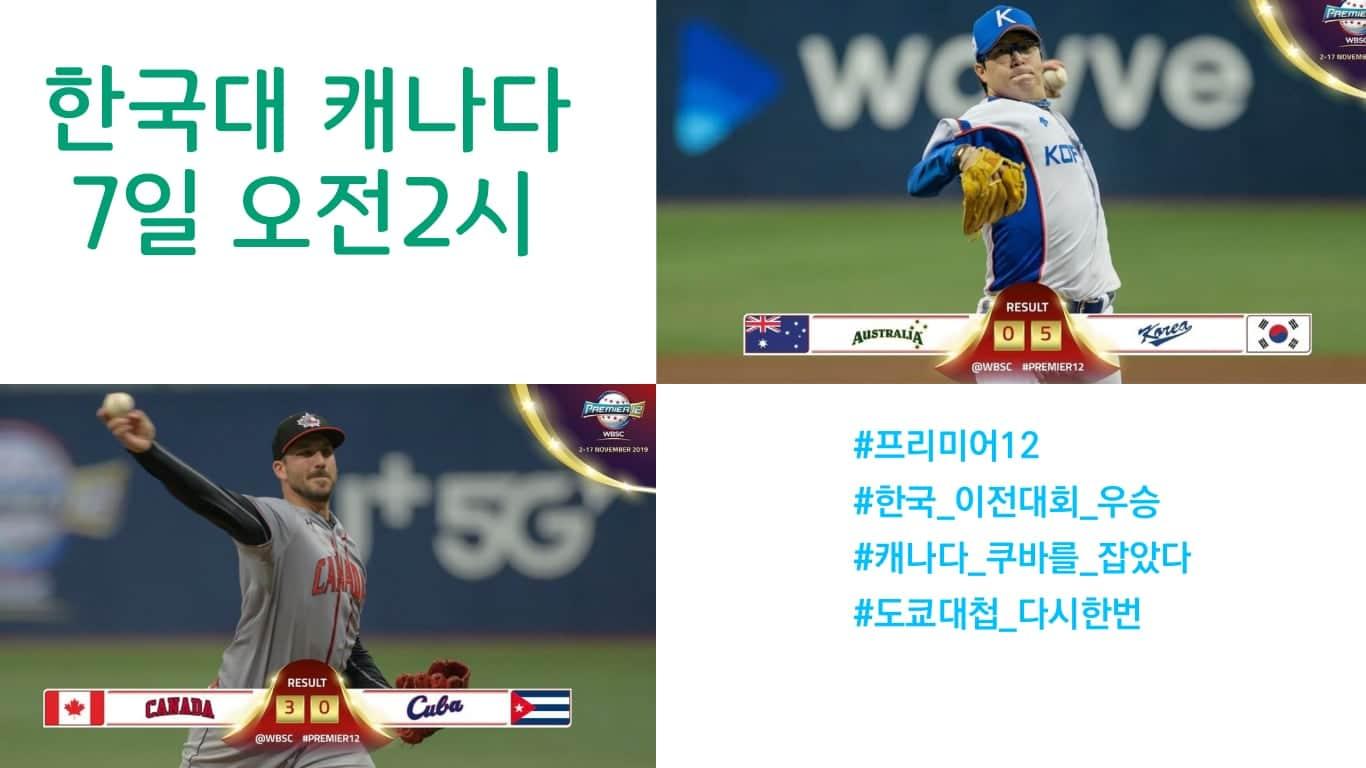 WBSC, 한국과 캐나다