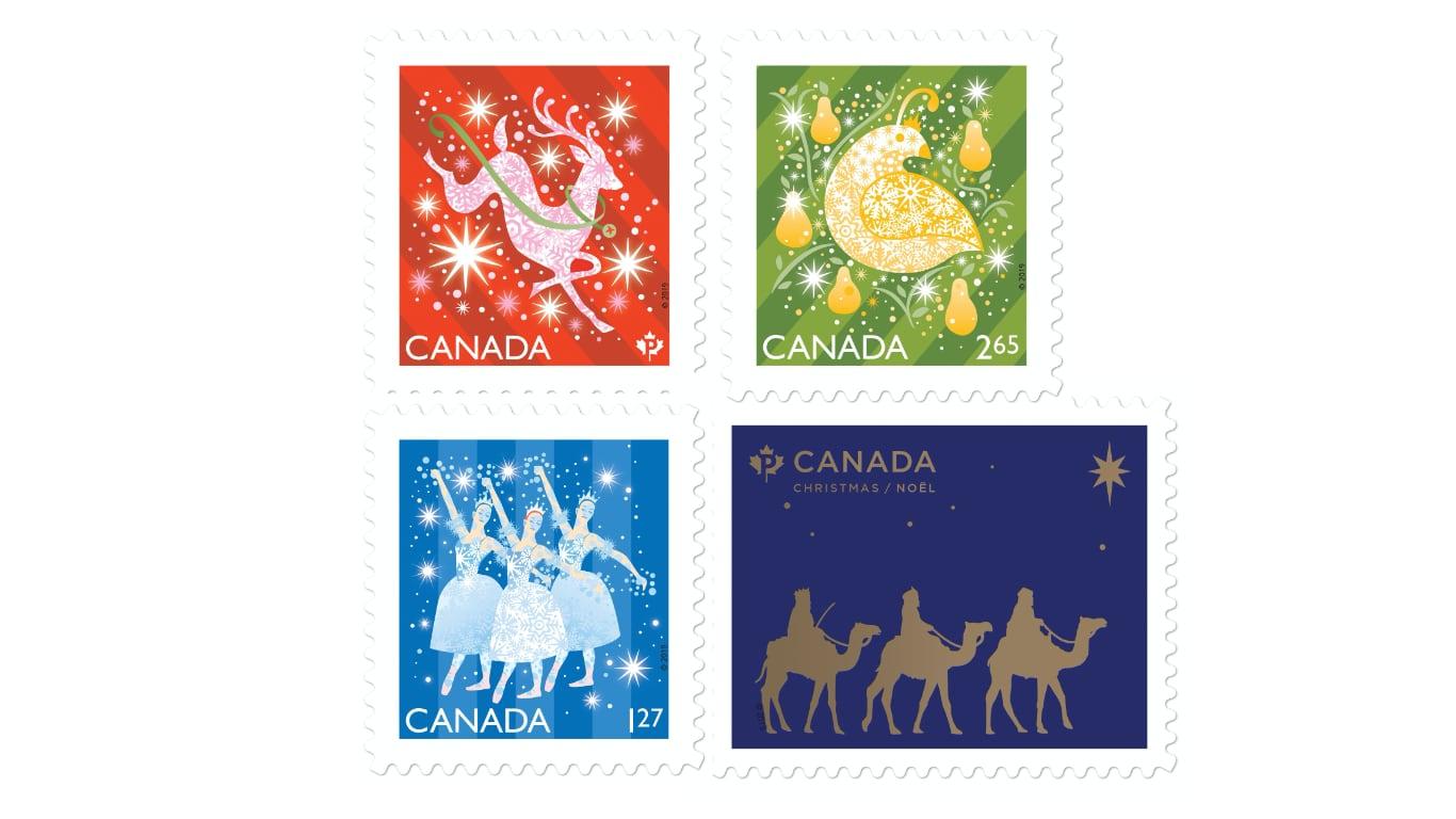 캐나다 크리스마스 기념우표 2019년