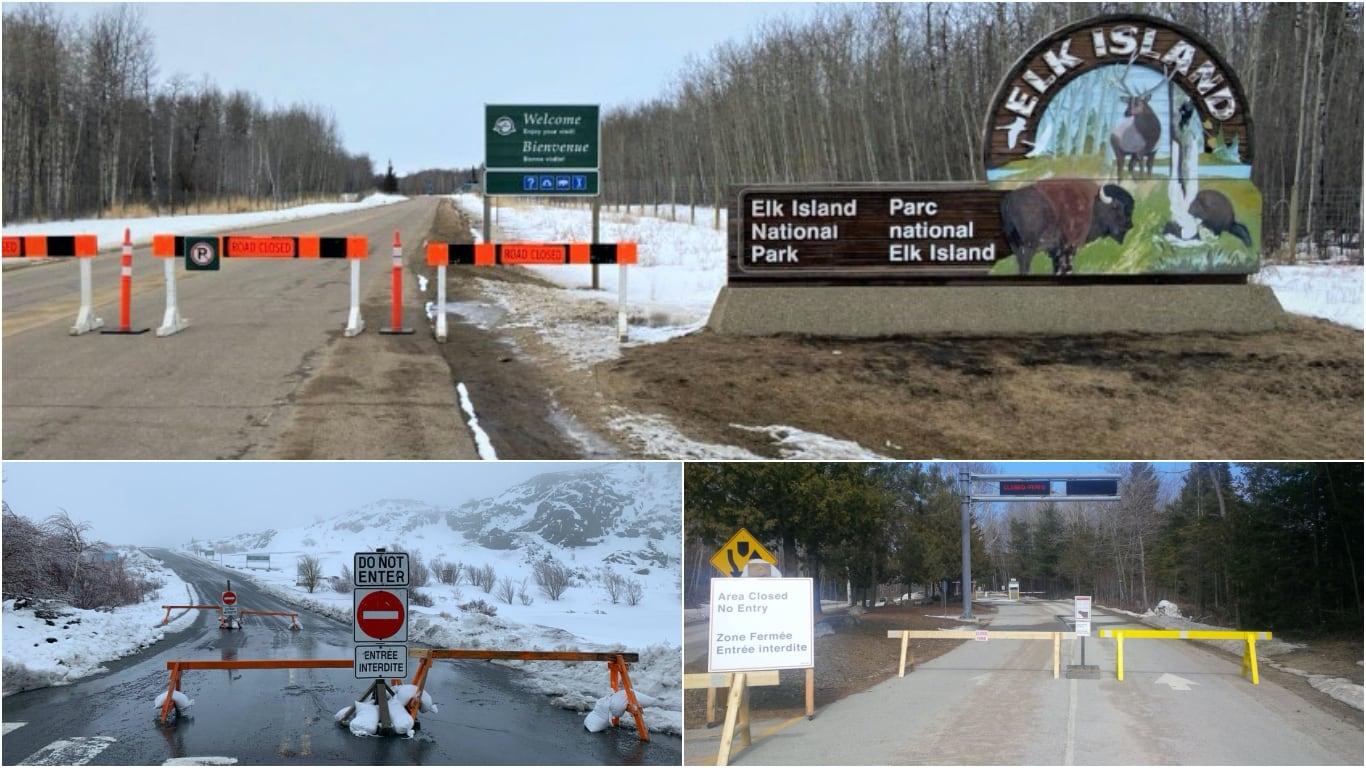 폐쇄된 캐나다 국립공원