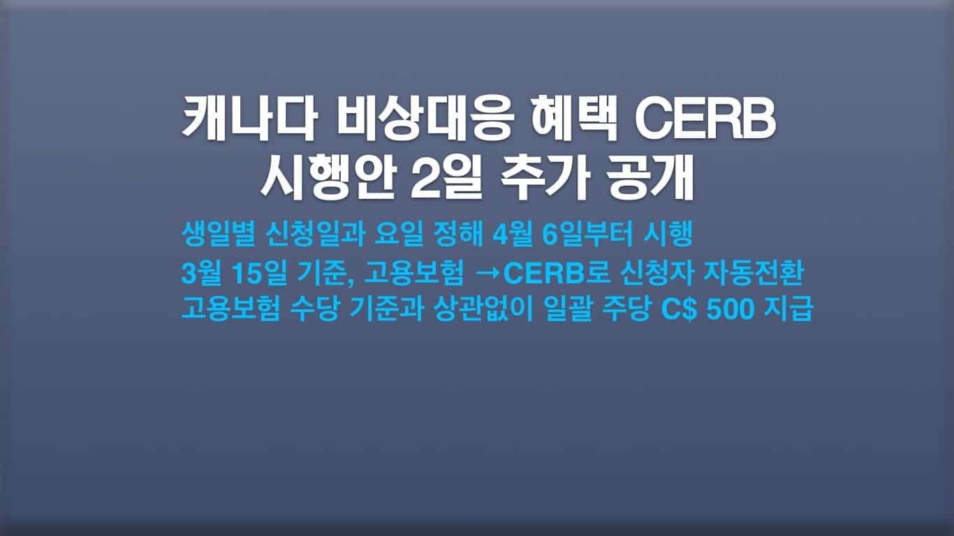 CERB 시행안
