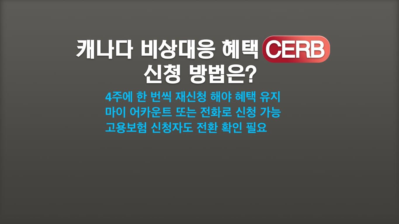 CERB 신청요령
