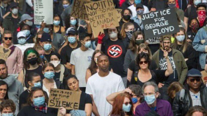 밴쿠버 조지 플로이드 시위