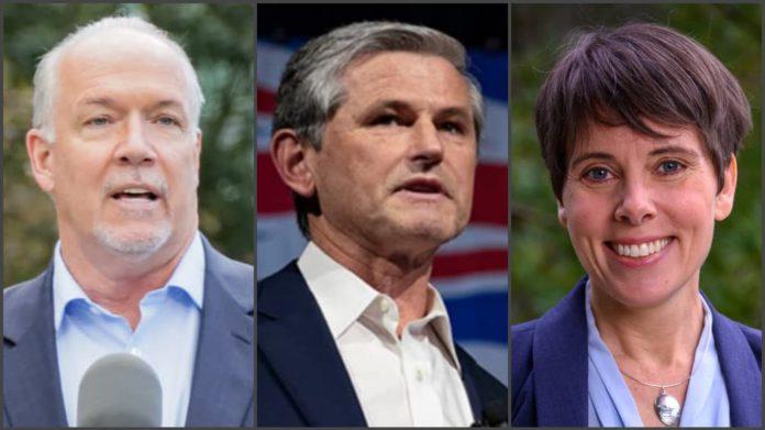 BC주 주요정당 대표