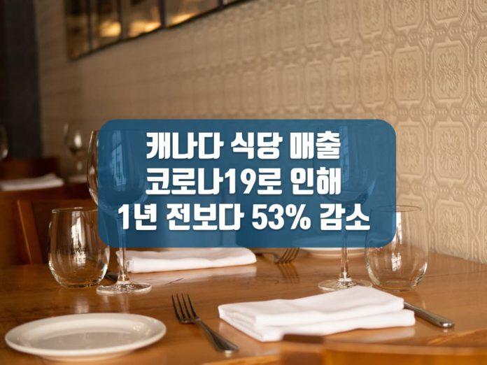 코로나19와 캐나다 식당 매출