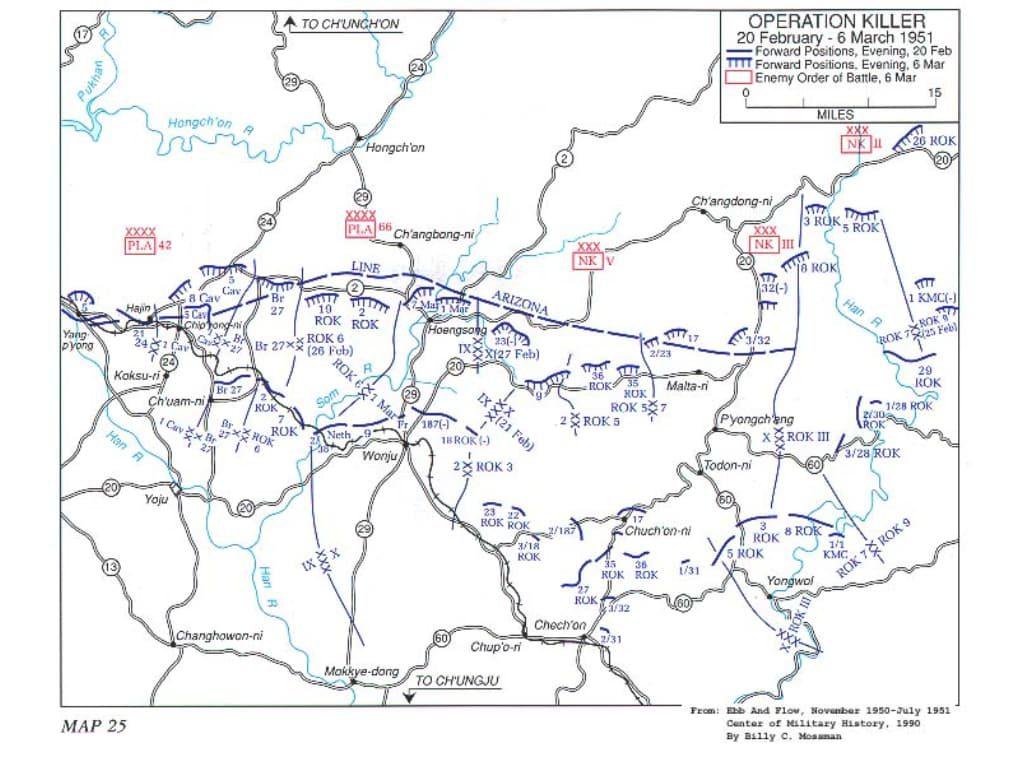 한국전쟁, 캐나다군은 중공군을 주적으로 대항해 싸웠다 625 OPKiller