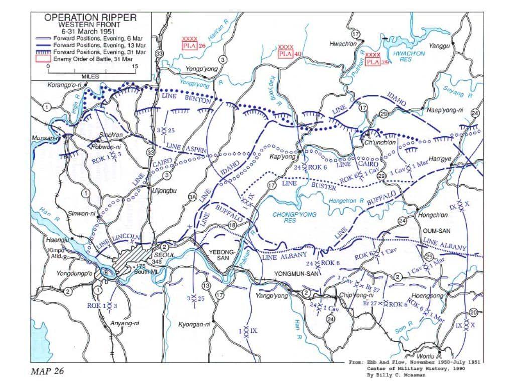 한국전쟁, 캐나다군은 중공군을 주적으로 대항해 싸웠다 625 OpRipper