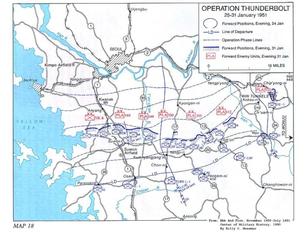 한국전쟁, 캐나다군은 중공군을 주적으로 대항해 싸웠다 625 thunderbolt